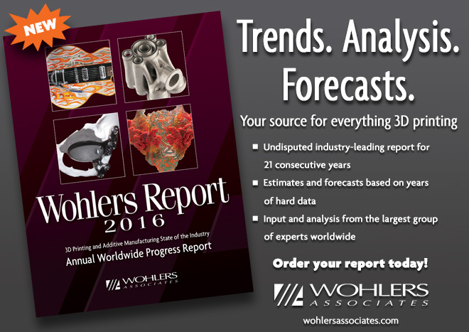 Wohlers Report 2016 is now available!