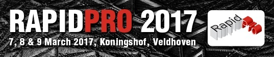 Logobanner RapidPro 2017 Conference and Expo in Veldhoven, Netherlands