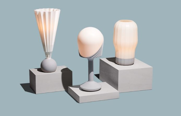 Picture of various Gantri table lights by designers from around the globe