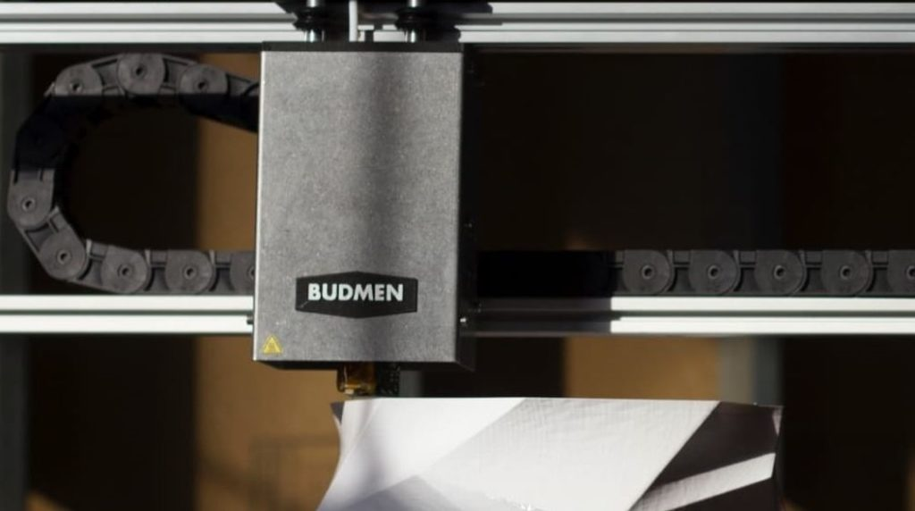 Image of the Budmen builder - the 3D printer used to create the lamps for the All of Lights project