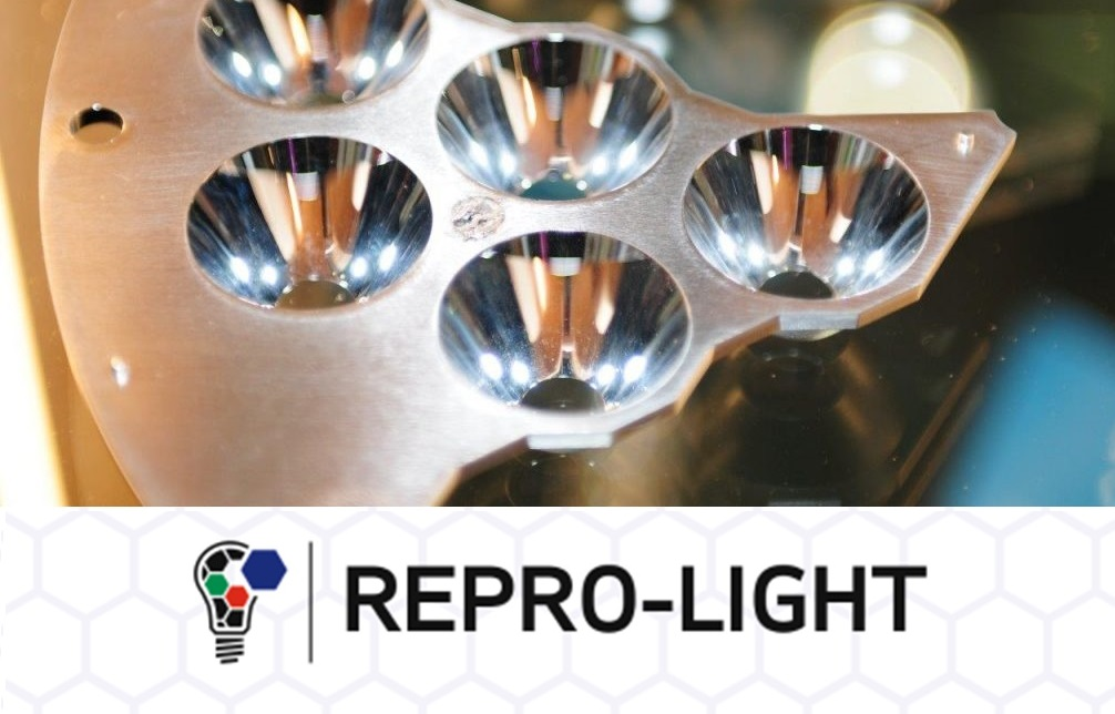 Image projecting the Luminaire of the Future by Repro-light for 3DPrinting.Lighting