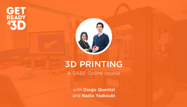 Image of Diogo Quental and Nadia Yaakoubi promoting their Get Ready 4 3D printing course