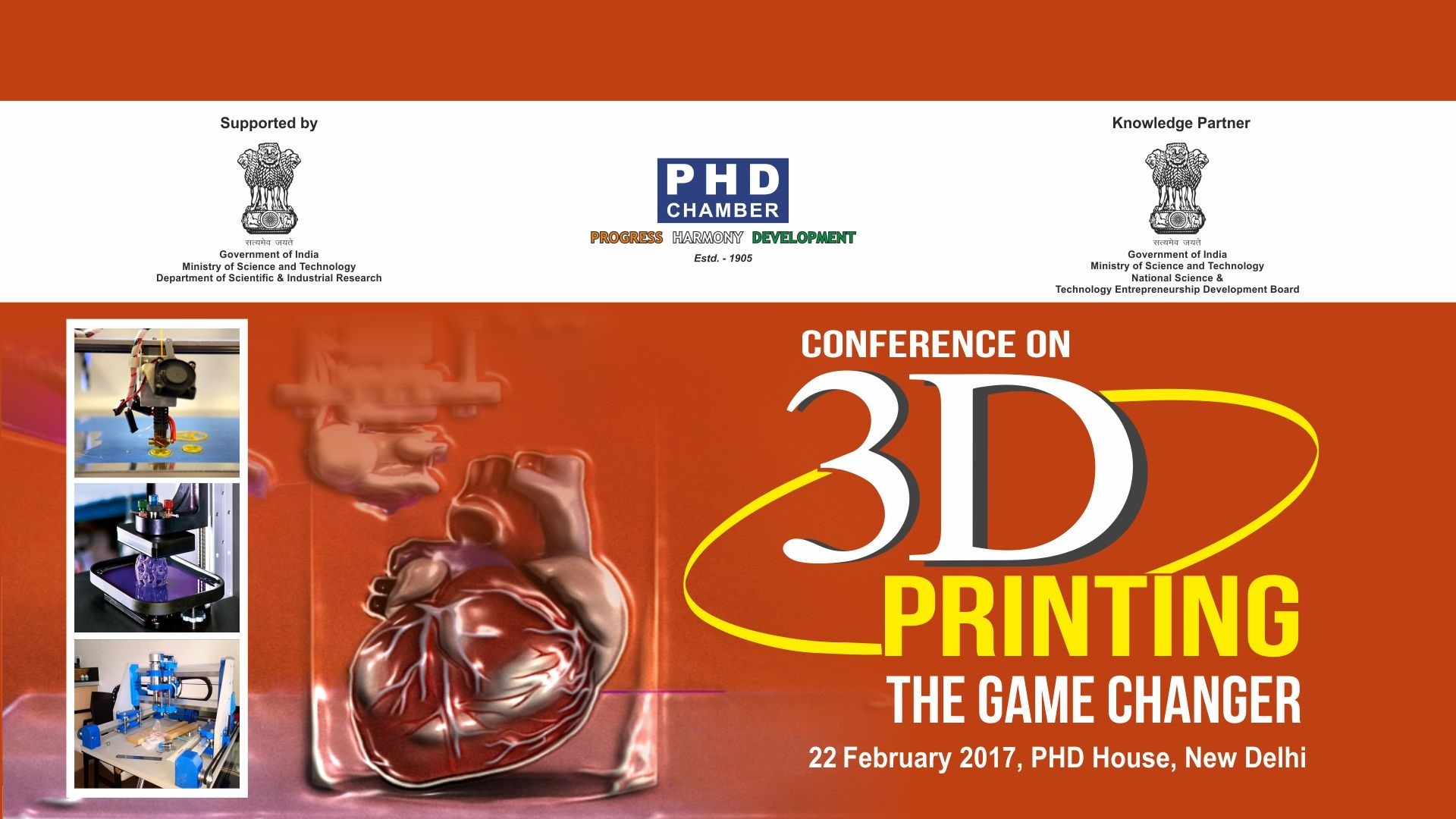 banner of National Conference on 3D Printing India