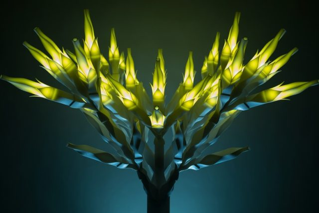 Picture of 3D printed trees by Se Yoon Park