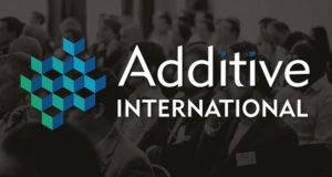 Logo banner of Additive International 2018 in Nottingham by 3DPrinting.Lighting