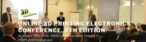 Header image for 3DPrinting.Lighting Event Listing 3D Printed Electronics Conference 2021