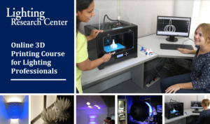 Image showing young LRC professionals and 3D printing process, used as header image for Online LRC 3D Printing Course